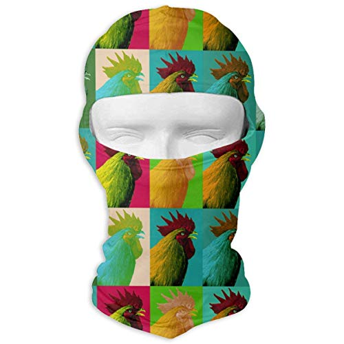 Bgejkos Pop Art Farm Chicken Balaclava UV Protection -