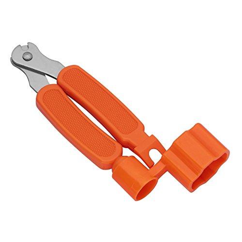 SODIAL(R) 3 In 1 function Bridge Pin Puller String Cutter String Peg Winder For Guitar Ukulele Stringed Instruments (Orange)