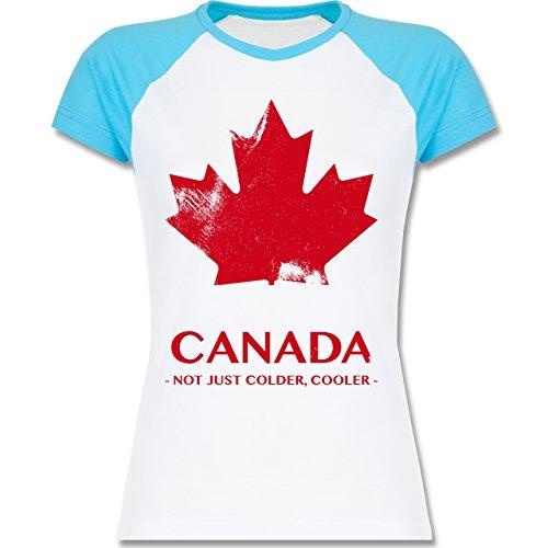 Shirtracer Länder - Canada Vintage Not Just Colder Cooler - Zweifarbiges  Baseballshirt/Raglan T-