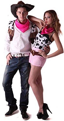 generique Costume coppia cowboy S