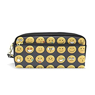 Estuche, diseño duradero Lápiz bolsa bolsa de maquillaje con gran capacidad Emoji de estudiante