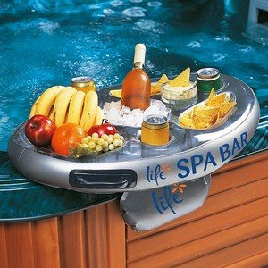 Official 'Perfect Pools' Spa Bar Inflatable Hot Tub Side Tray for Drinks and Snacks – Perfect for Pool Parties!
