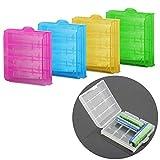 Demarkt 5 X Akkubox Batteriebox Aufbewahrung Schutzhülle Case für AAA und AA Akkus und Batterien (ohne Akkus)