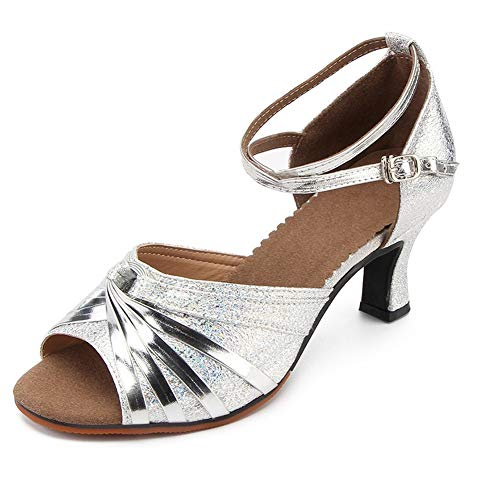 Sandali da Ballo Moderni per Donna Scarpe da Ballo Moderne (Argento,40 EU)
