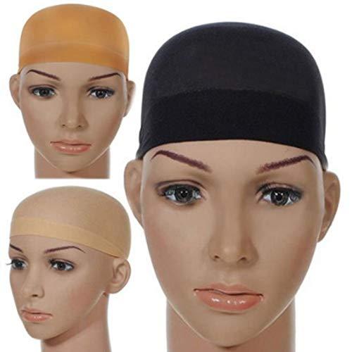 Cikuso Deluxe Perücke Kappe Haarnetz Für Weben 2 Teile/Pack Haar Perücke Netze Stretch Mesh Perücke Kappe Für Die Herstellung Von Perücken Freie Gr??e (schwarz)