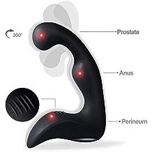 HWeggo Plug Anal Vibromasserur Prostate G-spot Stimulateur 9-fréquences Vibrant Sex Pour Homme - Noir