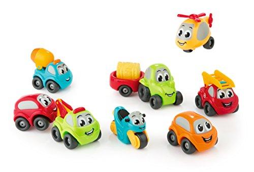 Smoby 120203 Vroom Planet Mini Flitzer Collector Box - Lote de vehículos de Juguete