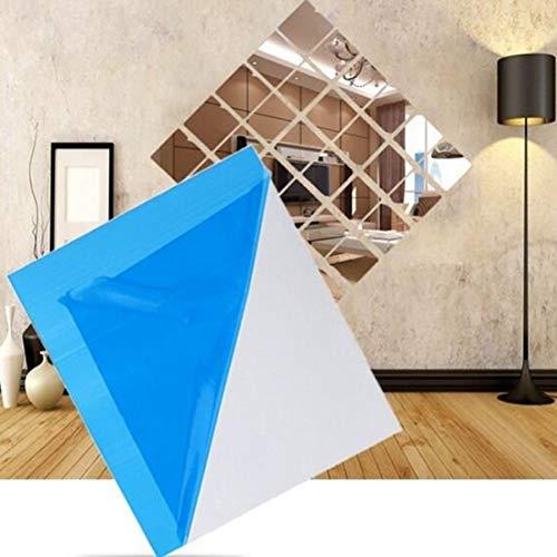Moiraurs - Láminas de Espejo Flexibles Autoadhesivas de plástico para decoración del hogar