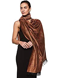 "Weavers Villa Women's Pashmina Wool Woven Soft Shawls, Wraps [Size: 40"" X 80""]"