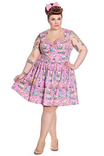 Hell Bunny - Robe - Sans Manche - Femme Rose