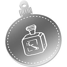 2 x 75mm 'Botella de Perfume' Espejo Decoraciones de Navidad (CB00044442)