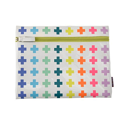 incidence-paris-pochette-plate-technicolor-croix-22-cm-multicolore