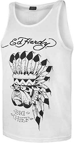 Ed Hardy Graphic Vest Classic Collection Big Chief Small