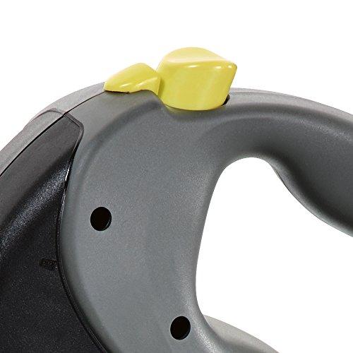 flexi Roll-Leine GIANT L 8 m Gurt für Hunde bis 50 kg, schwarz / neongelb - 3