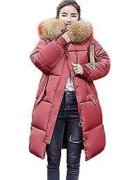 Wintermantel Daunenjacke Damen Übergangs Jacke Premium Dünne Outwear Frauen Warm Daunenmantel mit Kapuze Faux Pelz Steppjacke Leichte Mantel Oberbekleidung Trenchcoat Winterjacke Warm Parka Jacke