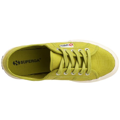 Superga 2750-Jcot Classic, Sneaker Unisex - Bambini, Bianco 18 Verde (Apple Green)