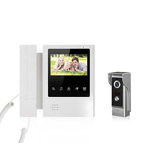 Farbe-ir-video (Neue 4,3 '' Zoll Farbe Video Türsprechanlage Intercom IR Nachtsicht Kamera Monitor für Zuhause)