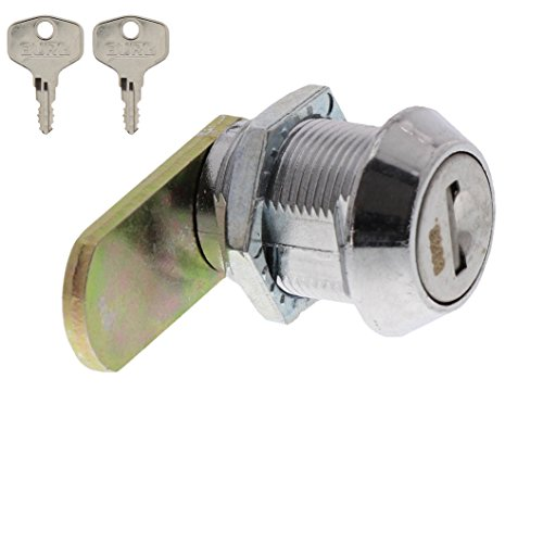 BURG-WÄCHTER Universalzylinder, Zinkdruckguss, Vernickelt, 1 Schließriegel, Mit Befestigungsmutter, 2 Wendeschlüssel, ZS 84 SB - 3