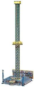 Faller 140325  - Atracción de Feria: Torre de caída Libre Importado de Alemania