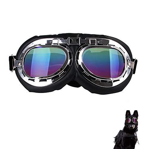 @W.H.Y Pet Sonnenbrillen übergroßen Rahmen Brille Dog Harley Brille,B