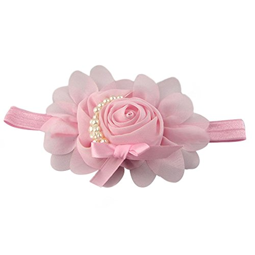 Baby Perlen Stirnband Rose Blume Haarband Fotografie Band (Model 3)