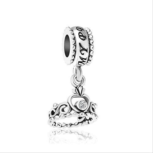 Xingxx accessori 1pc corona hanging dangle perline charms per donne si adatta europeo pandora charm braccialetti a1034 (in questo stato del sistema)