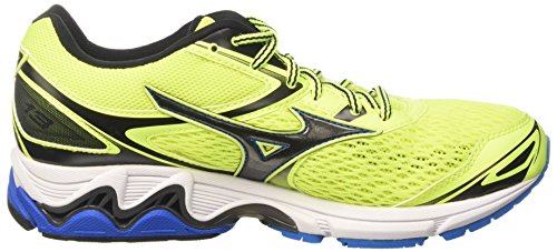 Mizuno Wave Inspire 13, Scarpe da Ginnastica Uomo Giallo (Safety Yellow/Black/Directoire Blue)