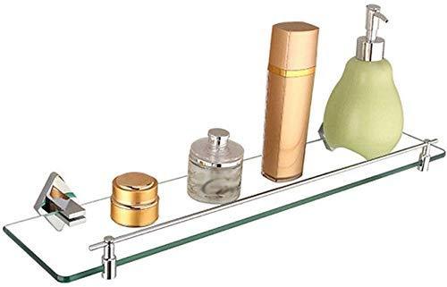 ZHGwlp Badezimmer-Glasrahmen, Portarrollos de Papel higiénico de acero inoxidable para baño, dispensador de toallas, contemporáneo soporte de pared de estilo Cuadrado, (Size : C)