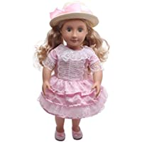 Preisvergleich für LILICATKostüme Puppe Kleidung Kleid Haarband für 18 Zoll American Girl Puppe Zubehör Kawaii Spielzeug (Rosa)