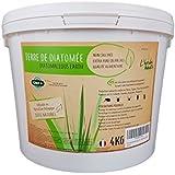 L'Herbe Haute ® Terre de diatomée Alimentaire Blanche -4KG- Utilisable en Agriculture Biologique - Haute pureté sans Traitement ni adjonction - Élimine puces, punaises de lit, poux. Nombreux usages
