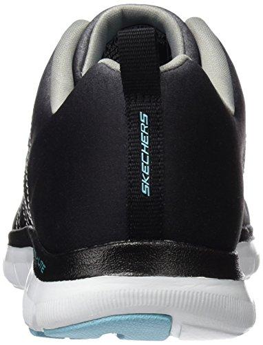 Skechers Flex Appeal 2, Baskets Basses Femme Noir (Bkgy)