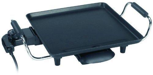 Backplatte (elektrische Tisch-Grillpfanne, regelbarer Thermostat, Anti-Haftbeschichtung)