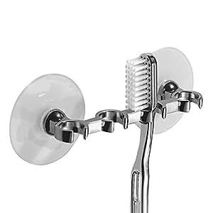 Interdesign, Suction Toothbrush Holder, Chrome