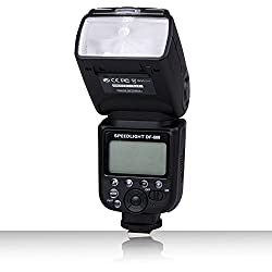 TYFY DF-750 LCD Camera Flash with S1/S2 Mode for Canon Nikon DSLR Camera