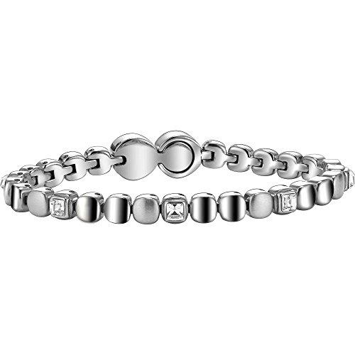 Breil bracciale da donna in acciaio inox con cristallo bianco 21cm–tj1453