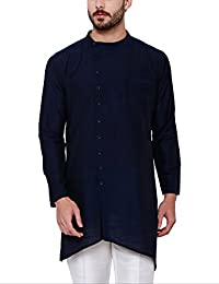 SVANIK Men's Blended Straight Kurta