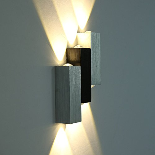 Deckey Wall Lights 6W LED Night Light UP Down Indoor Wall Lamp ...