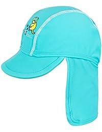 Landora®: UV-Schutz 50+ Kappe / Mütze in blau, rot, tuerkis oder violett - Baby-Badebekleidung mit Oeko-Tex® Standard 100
