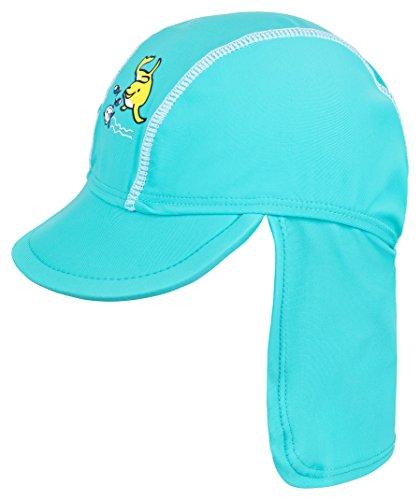 Landora®: UV-Schutz 50+ Kappe / Mütze in türkis - Baby-Badebekleidung mit Oeko-Tex® Standard 100