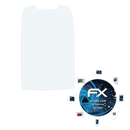 Samsung SGH-D600 Folie - 3 x atFoliX FX-Shock-Clear stoßabsorbierende ultraklare Panzerfolie Displayschutzfolie