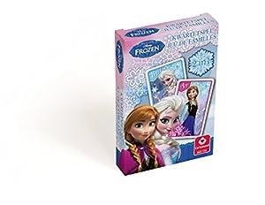 Carta Mundi A1404632 - Tarjeta de Juego de 7 familias, Modelo: Frozen (versión Francesa)