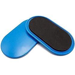 Lopbinte 1 Par Discos De Deslizamiento De Fitness Deslizador De Núcleo con Cubierta Entrenamiento De Coordinación Entrenamiento De Cuerpo Entero Equipo De Ejercicio Gimnasio Casa Azul
