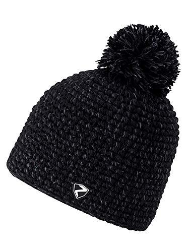 Ziener Erwachsene INTERCONTINENTAL hat Bommel-Mütze / warm, gehäkelt, , schwarz (black), Einheitsgröße