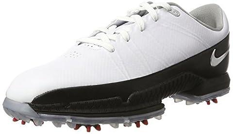 Nike Herren Air Zoom Attack Golfschuhe, Mehrfarbig (White/Metallic Silver/Black/University Red), 45.5 EU