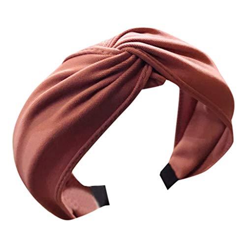 SEWORLD Damen Stirnbänder Haarband Yoga Headband Hairband Damen Stoff Haarreif mit Schleife Vintage Wunderschön Stirnband,Haarschmuck Haarreif Schleife Wunderschön Stirnband(Rot)