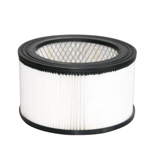 KAMINO FLAM Filter für Aschesauger mit Motor 337101, der Schwebstofffilter lässt sich einfach reinigen, der Ersatzfilter lässt sich schnell austauschen und schützt den Motor effektiv vor Dreck, der Zusatzfilter kann in die Partikelfilterklasse HEPA eingeordnet werden, Maße betragen ca. Ø16 x 9 cm