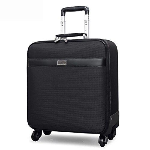PINCHU Leichtes Kabinen-Gepäck-Laptop-Rollen-Fall fahrbarer Geschäfts-Aktenkoffer 4 Rad-Pilot-Flug-Koffer (Fahrbare Notebook)