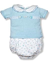 8dd2f48f5 ... faldón para niña con Capota a Juego. Cuerpo de Punto en Rosa bebé y  Falda de plumeti. Adornado con Lazo · Más opciones desde EUR 40