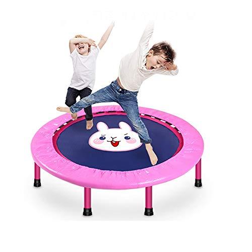 YUSDP Falt Trampolin für Kinder, Design mit elastischem Sicherheitsseil - rutschfestes Stummschaltung Polster - Tragfähigkeit von max. 120 kg - Geeignet für Erwachsene oder Kinder -Training, 40 Zoll