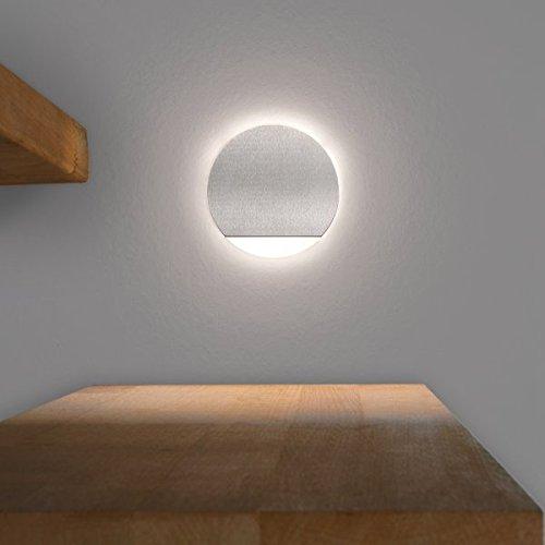 LED Treppenbeleuchtung Rund Aus Aluminium Und Plexiglas Für  Schalterdoseneinbau 68mm   Kaltweiss 650